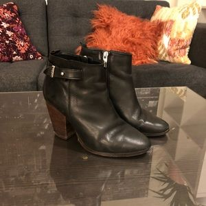 Coach leather booties 7.5